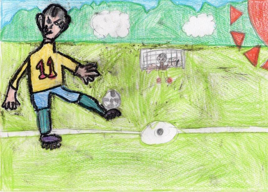 サッカー対決 プロのキーパーVSサッカー少年のがんばり