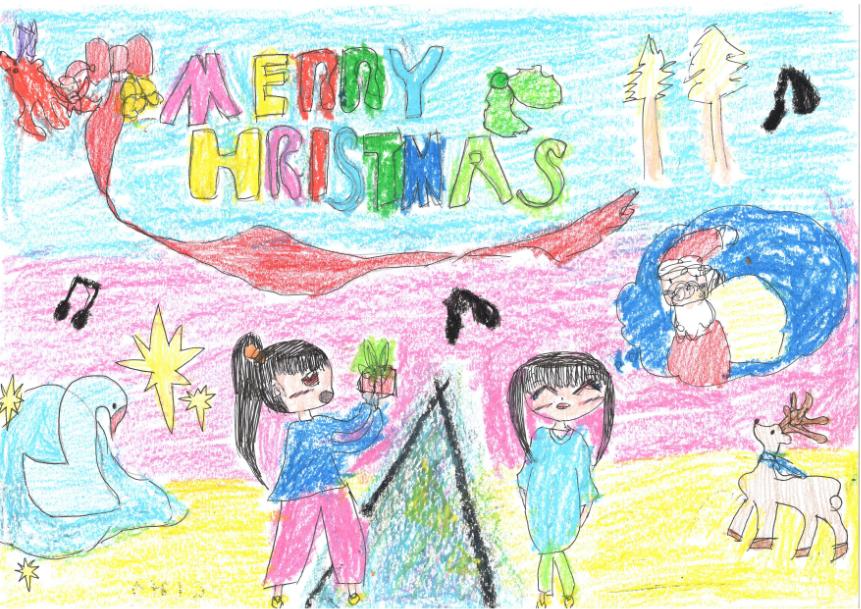 クリスマスの日のキラキラ