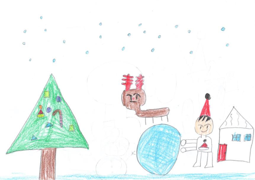 クリスマスは雪だるまを作ろう