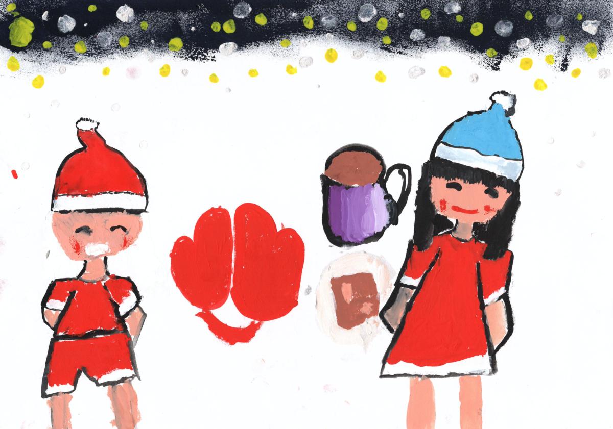 サンタさんとプレゼントこうかん
